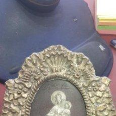 Antigüedades: RELICARIO VIRGEN DEL CARMEN METAL PLATEADO. Lote 211271332