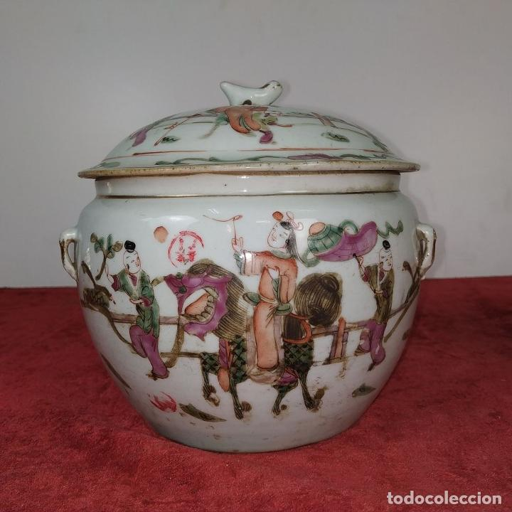 Antigüedades: 2 SOPERAS KAMCHENG. FAMILIA ROSA Y FAMILIA VERDE. PORCELANA. CHINA. FIN SIGLO XIX - Foto 2 - 211389007