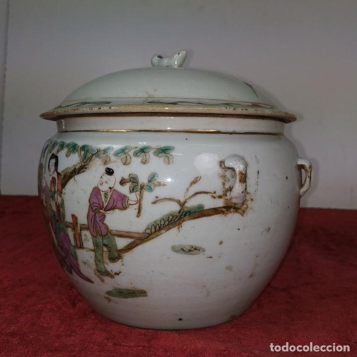 Antigüedades: 2 SOPERAS KAMCHENG. FAMILIA ROSA Y FAMILIA VERDE. PORCELANA. CHINA. FIN SIGLO XIX - Foto 3 - 211389007