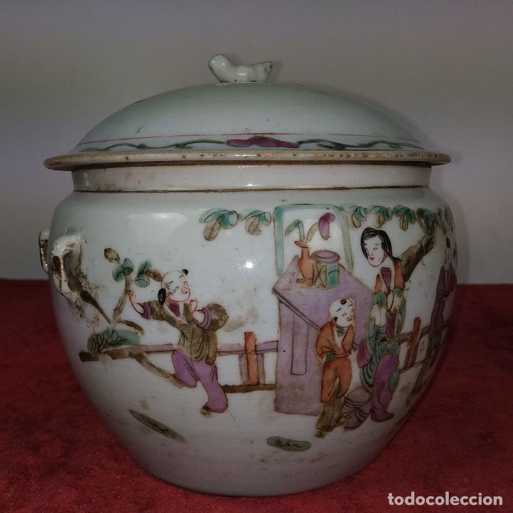 Antigüedades: 2 SOPERAS KAMCHENG. FAMILIA ROSA Y FAMILIA VERDE. PORCELANA. CHINA. FIN SIGLO XIX - Foto 4 - 211389007
