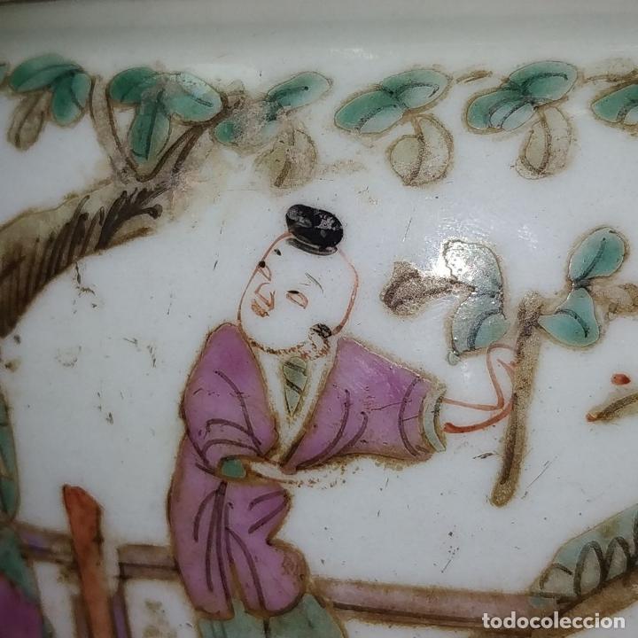 Antigüedades: 2 SOPERAS KAMCHENG. FAMILIA ROSA Y FAMILIA VERDE. PORCELANA. CHINA. FIN SIGLO XIX - Foto 9 - 211389007