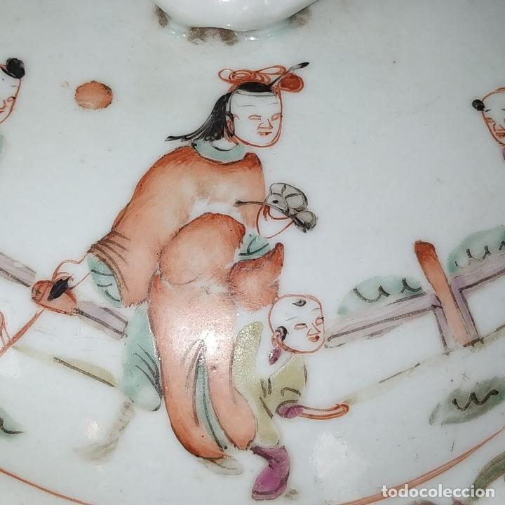 Antigüedades: 2 SOPERAS KAMCHENG. FAMILIA ROSA Y FAMILIA VERDE. PORCELANA. CHINA. FIN SIGLO XIX - Foto 14 - 211389007