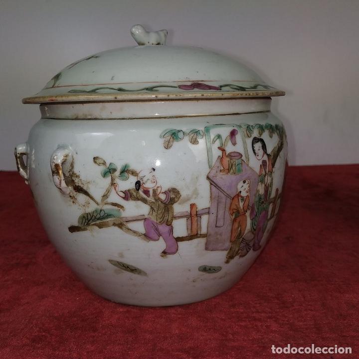 Antigüedades: 2 SOPERAS KAMCHENG. FAMILIA ROSA Y FAMILIA VERDE. PORCELANA. CHINA. FIN SIGLO XIX - Foto 17 - 211389007