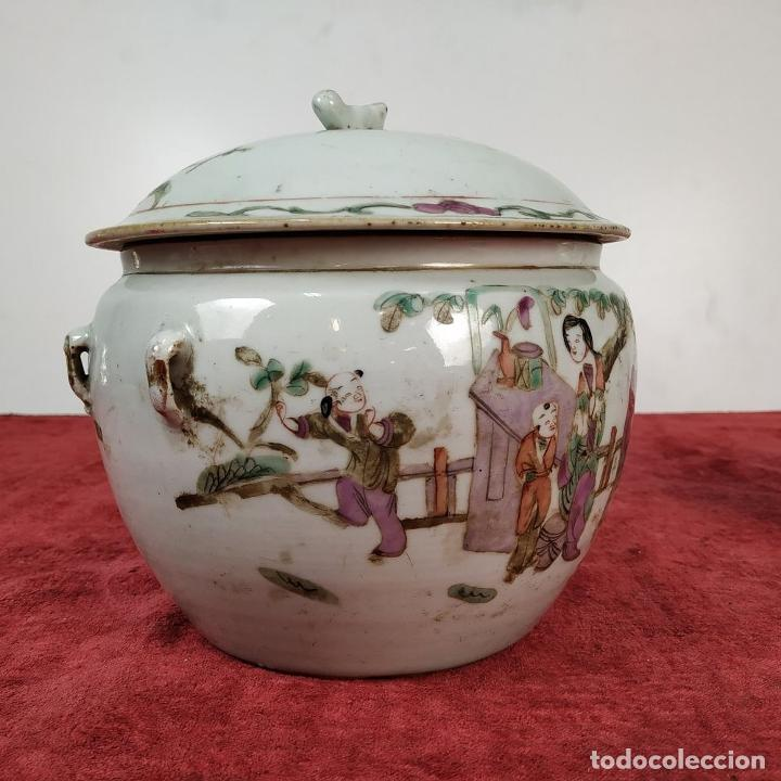 Antigüedades: 2 SOPERAS KAMCHENG. FAMILIA ROSA Y FAMILIA VERDE. PORCELANA. CHINA. FIN SIGLO XIX - Foto 18 - 211389007