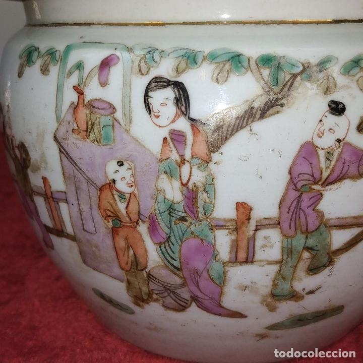 Antigüedades: 2 SOPERAS KAMCHENG. FAMILIA ROSA Y FAMILIA VERDE. PORCELANA. CHINA. FIN SIGLO XIX - Foto 19 - 211389007