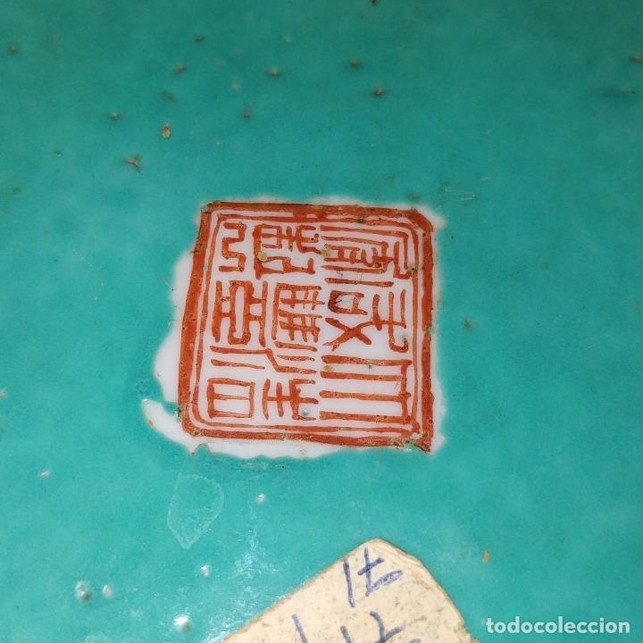 Antigüedades: 2 SOPERAS KAMCHENG. FAMILIA ROSA Y FAMILIA VERDE. PORCELANA. CHINA. FIN SIGLO XIX - Foto 41 - 211389007