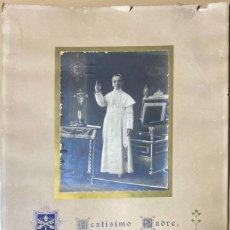 Antigüedades: CARTEL BENEDICTO XV. INDULGENCIA PLENARIA IN ARTICULO MORTIS. AÑO 1916. VER FOTOS. Lote 211390487