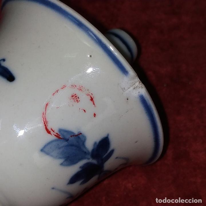 Antigüedades: PAREJA DE LAMPARAS CHINAS DE ACEITE. PORCELANA ESMALTADA. CHINA. FINALES SIGLO XIX - Foto 8 - 211394216