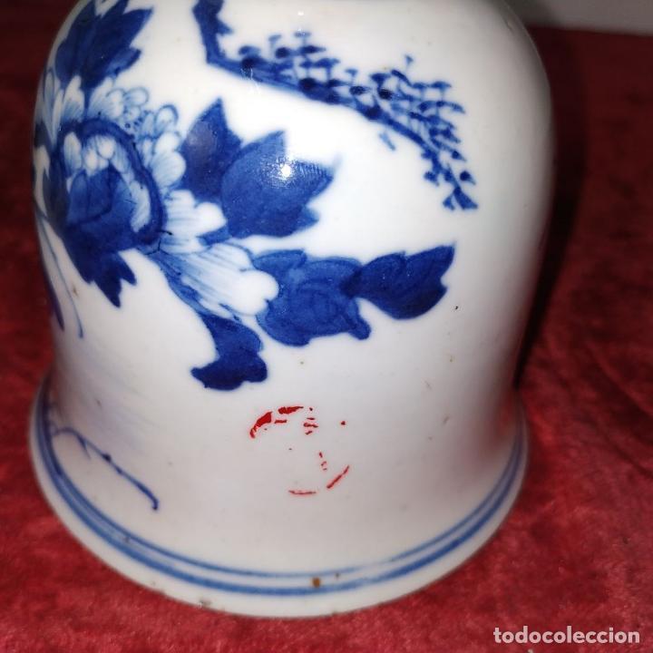 Antigüedades: PAREJA DE LAMPARAS CHINAS DE ACEITE. PORCELANA ESMALTADA. CHINA. FINALES SIGLO XIX - Foto 9 - 211394216