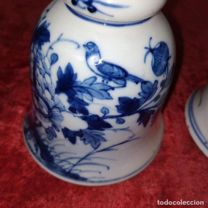 Antigüedades: PAREJA DE LAMPARAS CHINAS DE ACEITE. PORCELANA ESMALTADA. CHINA. FINALES SIGLO XIX - Foto 10 - 211394216