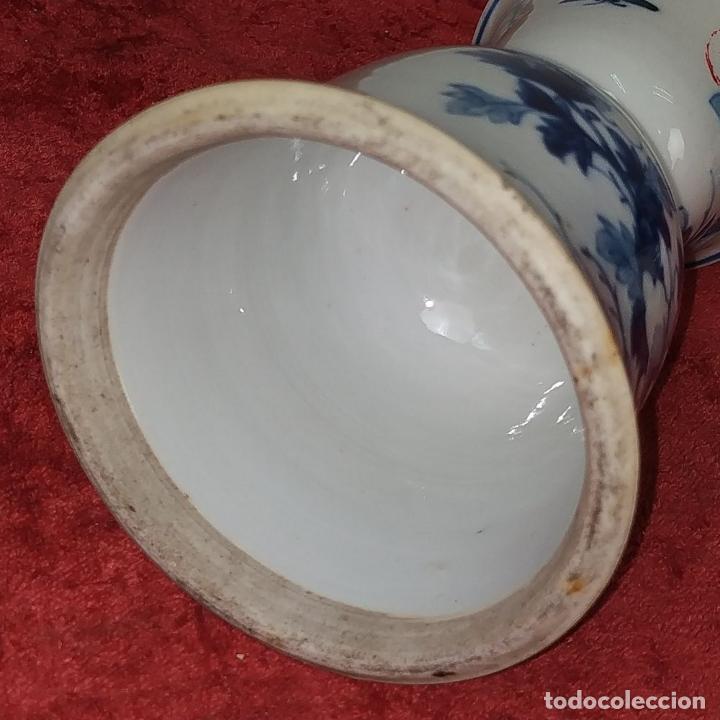 Antigüedades: PAREJA DE LAMPARAS CHINAS DE ACEITE. PORCELANA ESMALTADA. CHINA. FINALES SIGLO XIX - Foto 13 - 211394216