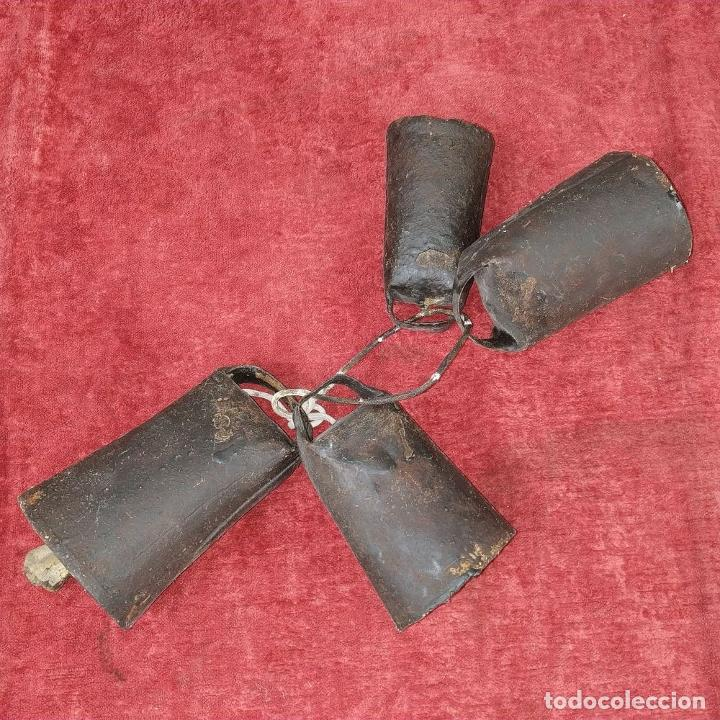 Antigüedades: LOTE DE 5 CENCERROS DE HIERRO. ESPAÑA. SIGLO XIX-XX - Foto 4 - 211396739