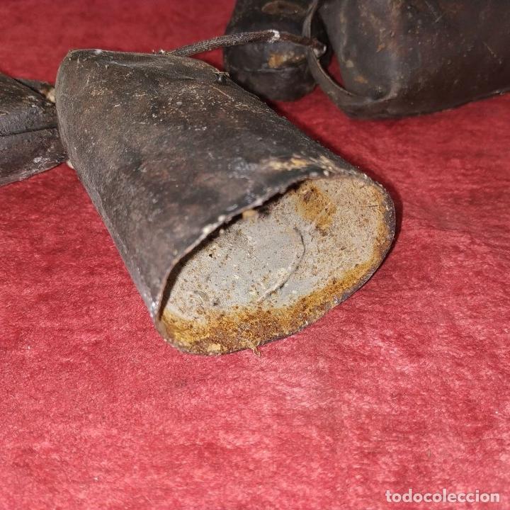 Antigüedades: LOTE DE 5 CENCERROS DE HIERRO. ESPAÑA. SIGLO XIX-XX - Foto 5 - 211396739