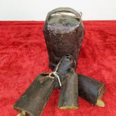Antigüedades: LOTE DE 5 CENCERROS DE HIERRO. ESPAÑA. SIGLO XIX-XX. Lote 211396739