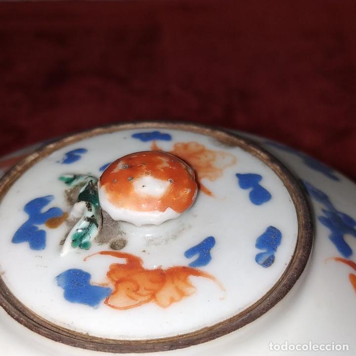 Antigüedades: COLECCIÓN DE 5 TETERAS CHINAS. PORCELANA ESMALTADA. MARCAS DE AXPORTACIÓN. CHINA. XIX-XX - Foto 8 - 211398589