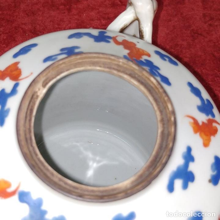 Antigüedades: COLECCIÓN DE 5 TETERAS CHINAS. PORCELANA ESMALTADA. MARCAS DE AXPORTACIÓN. CHINA. XIX-XX - Foto 9 - 211398589