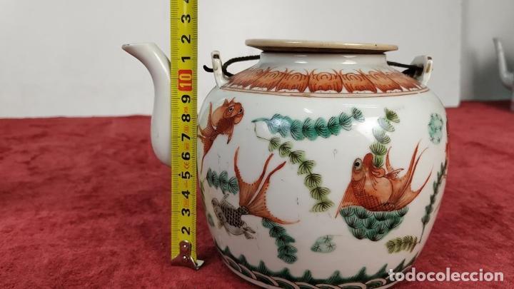 Antigüedades: COLECCIÓN DE 5 TETERAS CHINAS. PORCELANA ESMALTADA. MARCAS DE AXPORTACIÓN. CHINA. XIX-XX - Foto 34 - 211398589