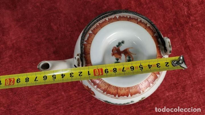 Antigüedades: COLECCIÓN DE 5 TETERAS CHINAS. PORCELANA ESMALTADA. MARCAS DE AXPORTACIÓN. CHINA. XIX-XX - Foto 35 - 211398589