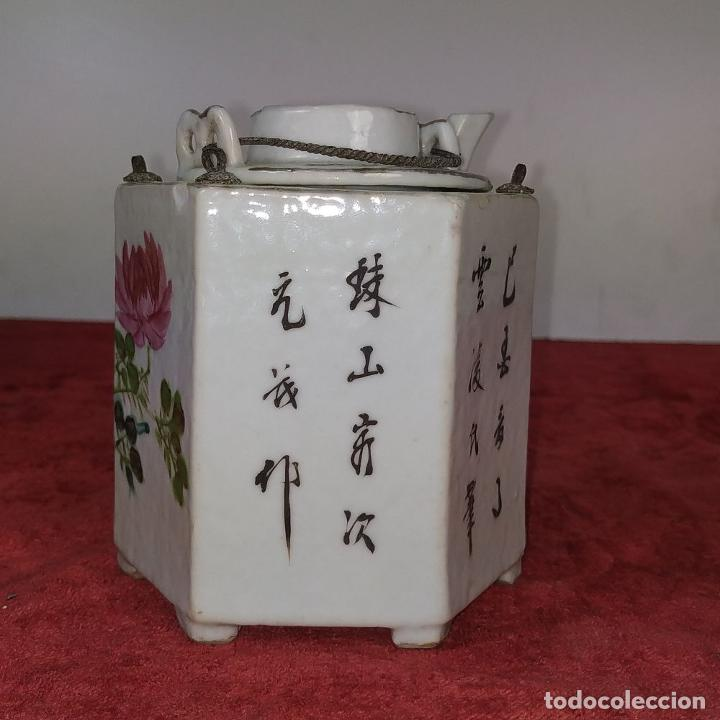 Antigüedades: COLECCIÓN DE 5 TETERAS CHINAS. PORCELANA ESMALTADA. MARCAS DE AXPORTACIÓN. CHINA. XIX-XX - Foto 38 - 211398589