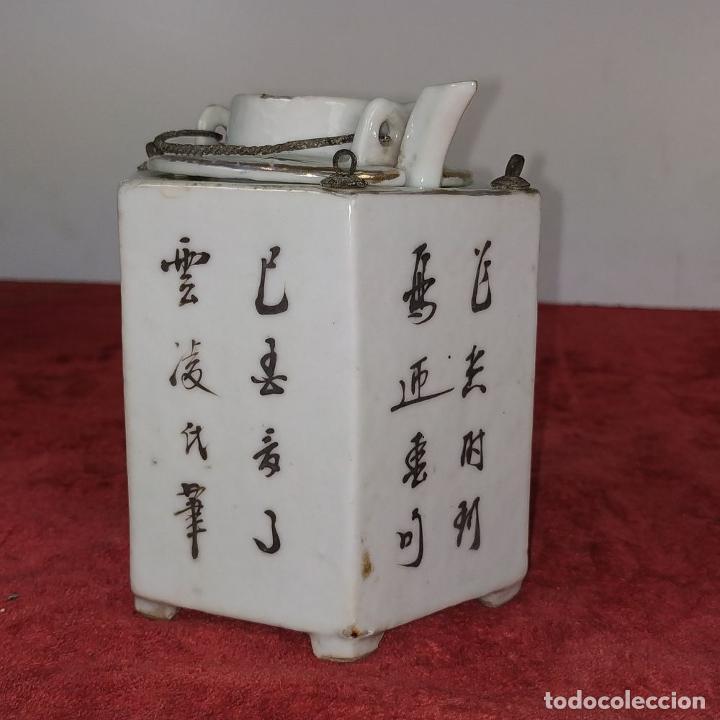 Antigüedades: COLECCIÓN DE 5 TETERAS CHINAS. PORCELANA ESMALTADA. MARCAS DE AXPORTACIÓN. CHINA. XIX-XX - Foto 39 - 211398589