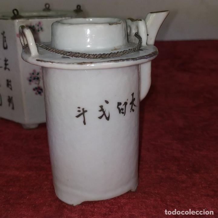 Antigüedades: COLECCIÓN DE 5 TETERAS CHINAS. PORCELANA ESMALTADA. MARCAS DE AXPORTACIÓN. CHINA. XIX-XX - Foto 43 - 211398589