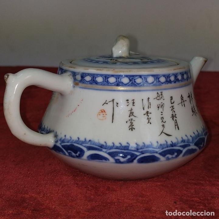 Antigüedades: COLECCIÓN DE 5 TETERAS CHINAS. PORCELANA ESMALTADA. MARCAS DE AXPORTACIÓN. CHINA. XIX-XX - Foto 69 - 211398589
