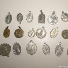 Antigüedades: 18 MEDALLAS RELIGIOSAS ANTIGUAS (LOTE A). Lote 211402175