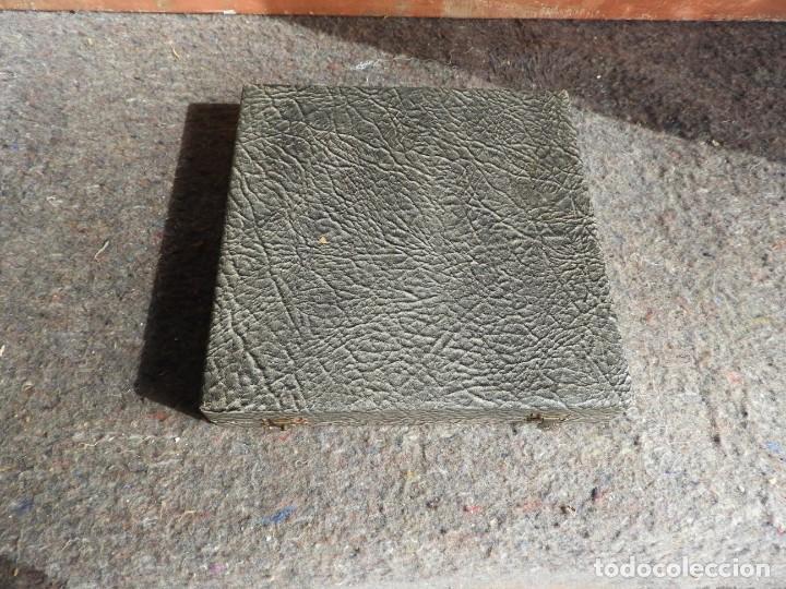 Antigüedades: CUBIERTOS DE SERVIR DE PLATA PARA APERITIVOS CON ESTUCHE - Foto 9 - 211402199