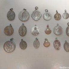 Antigüedades: 18 MEDALLAS RELIGIOSAS (LOTE B). Lote 211402519