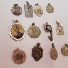 Antigüedades: LOTE DE 12 BONITAS MEDALLAS DE PLATA Y PLATEADAS. Lote 211411035