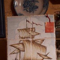 Antigüedades: PANEL DE AZULEJOS LEVANTINOS. BARCO.. Lote 211432367