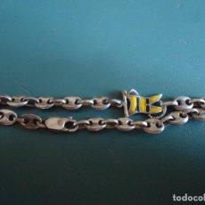 Antigüedades: PULSERA TIPO NAUTICO, EN PLATA DE LEY CONTRASTADA.. Lote 211436379