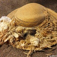 Antigüedades: ANTIGUO SOMBRERO DE MIMBRE. Lote 211436989