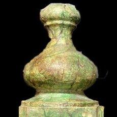 Antigüedades: ANTIGUO PINÁCULO, COLUMNA, REMATE, PIEZA DE RETABLO DE NOGAL MARMOLIZADA. SIGLO XIX. 77X17X17. Lote 211439877
