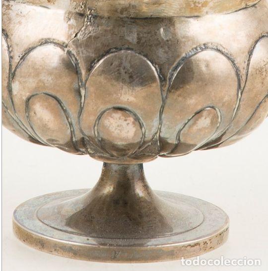 Antigüedades: IMPORTANTE INCENSARIO DE PLATA ESPAÑOLA DEL SIGLO XVII. 24 x 11 x 11 cm. PESO Peso: 592 g - Foto 3 - 211453644