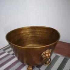 Antigüedades: MAGNÍFICO MACETERO DE BRONCE DORADO, DE FINALES DEL SXIX. Lote 211468170