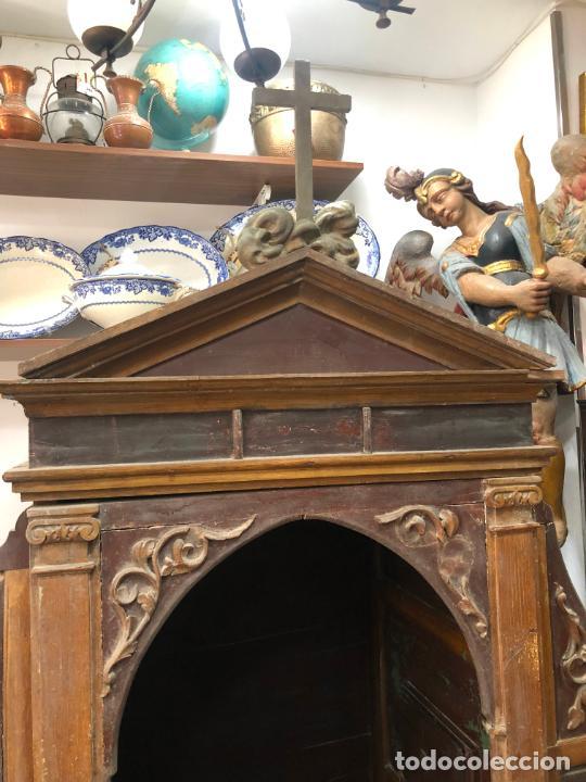 Antigüedades: GRAN CONFESIONARIO EN MADERA SIGLO XIX CON MEDIDAS 260X150X80 CM - Foto 2 - 211499470