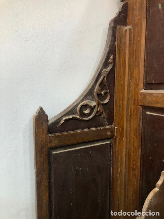 Antigüedades: GRAN CONFESIONARIO EN MADERA SIGLO XIX CON MEDIDAS 260X150X80 CM - Foto 17 - 211499470