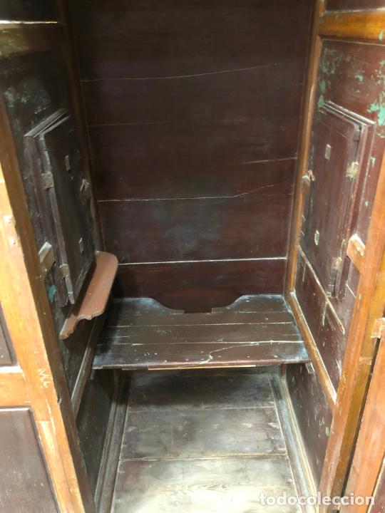 Antigüedades: GRAN CONFESIONARIO EN MADERA SIGLO XIX CON MEDIDAS 260X150X80 CM - Foto 20 - 211499470