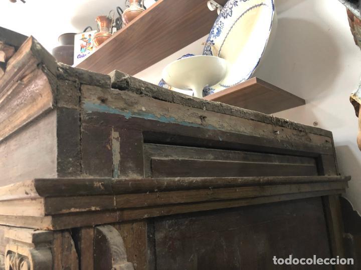 Antigüedades: GRAN CONFESIONARIO EN MADERA SIGLO XIX CON MEDIDAS 260X150X80 CM - Foto 30 - 211499470