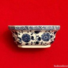 Antigüedades: ANTIGUO CENTRO - JARDINERA DE PORCELANA CHINA AZUL Y BLANCA.. Lote 211500430