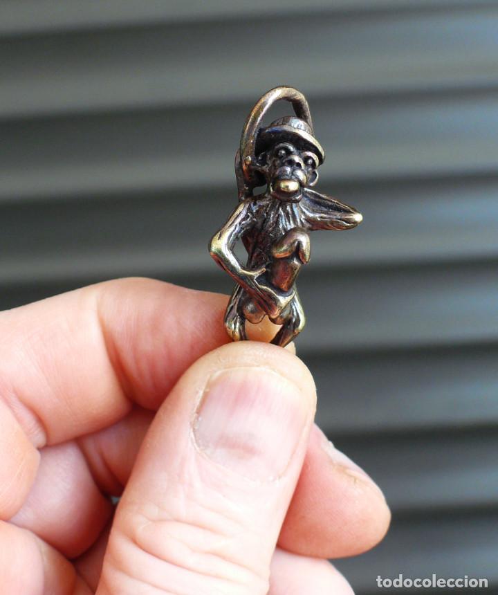 Antigüedades: escultura en miniatura. bronce .erotica .mono - Foto 8 - 211503036