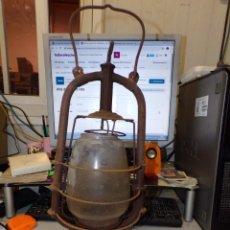 Antigüedades: FAROL LAMPARA QUINQUE DE ACEITE. Lote 211504641