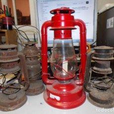Antigüedades: LOTE DE 4 FAROLES LAMPARAS DE ACEITE. Lote 211506730