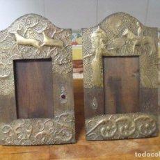 Antigüedades: PRECIOSOS MARCOS ART-DECO-FOTOGRAFIA- AÑO 1920- EN LATON REPUJADO- BUEN ESTADO. Lote 211514070