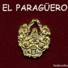 Antigüedades: MEDALLA INSIGNIA ORO DE LA HERMANDAD ROCIERA ( MALAGA ) Nº55. Lote 211520832