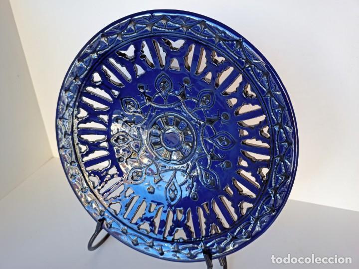 PLATO CALADO, CERÁMICA DE ÚBEDA, 30CM (Antigüedades - Porcelanas y Cerámicas - Úbeda)