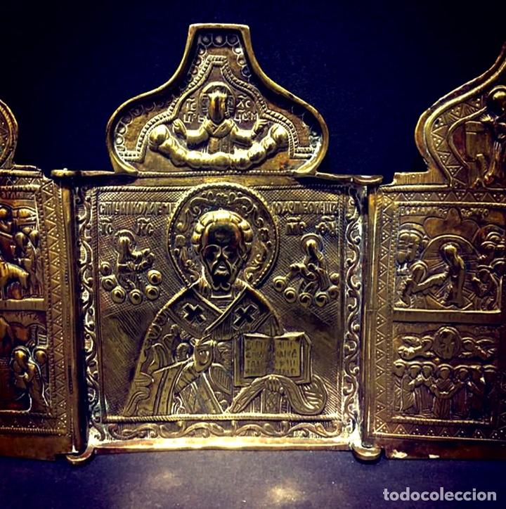Antigüedades: Ícono de viaje Ruso Siglo XVIII-XIX - Foto 2 - 211570242