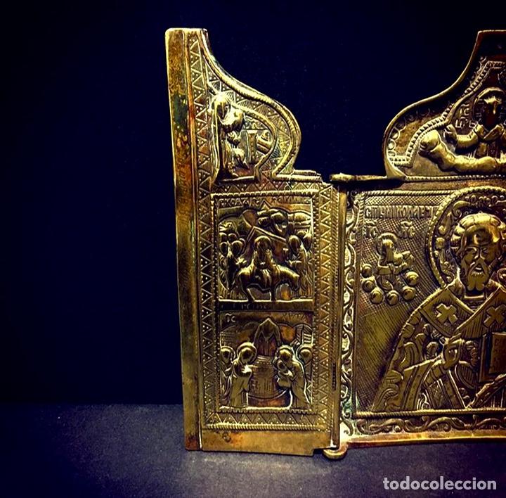 Antigüedades: Ícono de viaje Ruso Siglo XVIII-XIX - Foto 3 - 211570242
