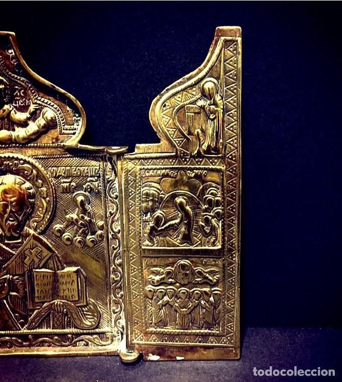 Antigüedades: Ícono de viaje Ruso Siglo XVIII-XIX - Foto 4 - 211570242